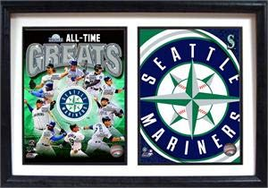 Encore Seattle Mariners Greats Two Photo Frame Ken Griffey Edgar - Picture Mariners Frame Seattle