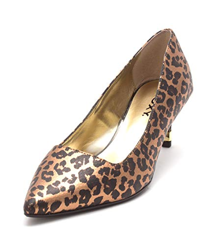 Proxy Womens Mellona Pointed Toe Classic Pumps, Metallic Animal, Size 13.0 ()