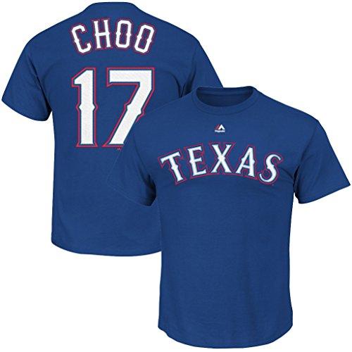 VF Texas Rangers MLB Mens Majestic Shin-Soo Choo Player Shirt Royal Blue Size 3XL