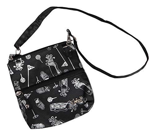 Women's Golf Accessory Bag - Glove It - Ladies Detachable Strap Accessories Bag - 2 Pouch Zipper Bag - Cross Body Carry All Organizer Bag - Make Up, Travel, Wallet - Purse Glove