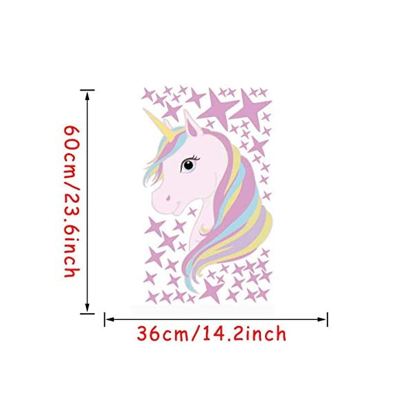 KUYUE Wall Decals Removable Unicorn Wall Stickers for Girls Decorations Bedroom Living Room Playroom Classroom 9