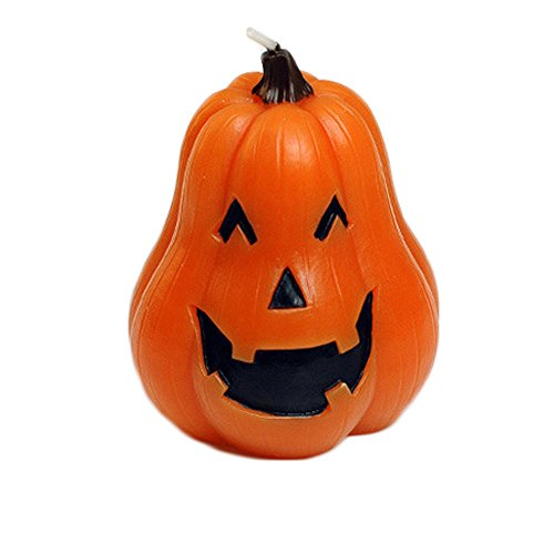 CXYP Halloween Theme Candle Trick Or Treat Trilogy Jack O' Lantern for Halloween Holiday Party Decorations (long (Long Halloween Trilogy)