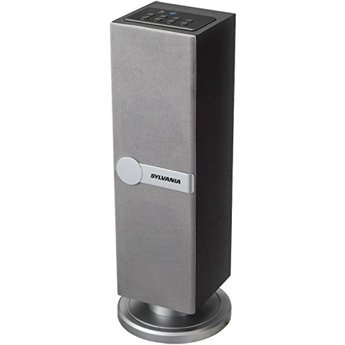 Sylvania SP269-Silver Bluetooth Floor Standing Tower Speaker