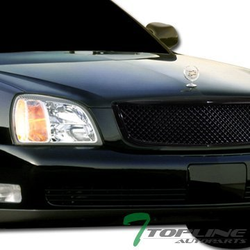 Blk Luxury Style Mesh Front Hood Bumper Grill Grille Abs Cadillac Deville