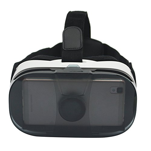 VR Headset,SVPRO Virtual Reality Box Glasses with Adjustable Strap for 3D Movies and Games Compatible for 4.0-6.5 inch iPhone 5s/6/6s/6 Plus/6s Plus Samsung S6 S7 Edge Note 4 VR gear (Mix)