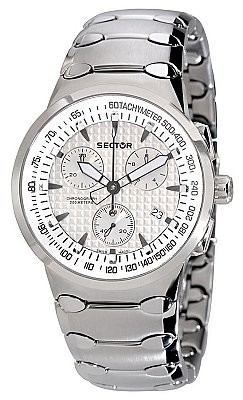 Sector Men's 700 Chrono 2653700015 Stainless-Steel Quartz Watch with Silver Dial