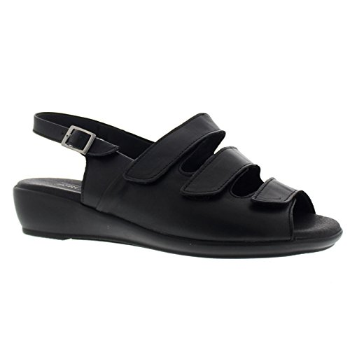 Sandal Arcopedico Black Sandals 3 Leather Womens Fpwrqp5