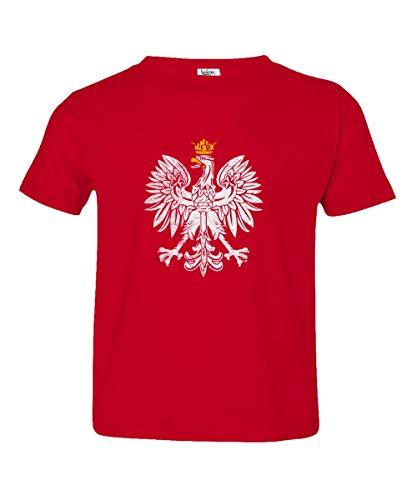 - Societee Poland Pride Coat of Arms Eagle Polska Herb Polski Little Kids Girls Boys Toddler T-Shirt (Red, 5T)