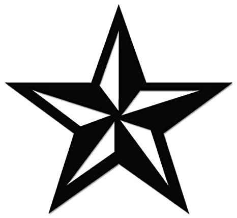 Nautical star vinyl decal sticker for vehicle car truck window bumper wall decor 15