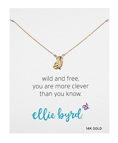 ellie byrd 14k Yellow Gold Fox Necklace, 16