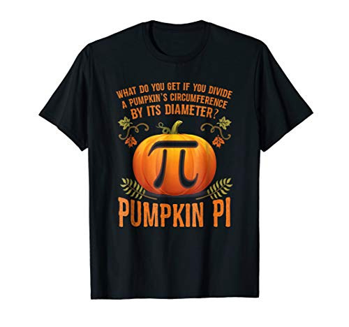 Funny Halloween Math Pun T-Shirt Pumpkin Pi T-Shirt ()
