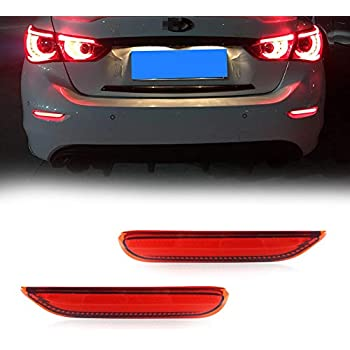 Amazon Com Gtinthebox 3d Optic Red Led Rear Bumper