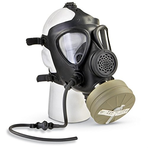 M15 Rubber Respirator Mask NBC Protection For Industrial Use, Chemical Handling, Painting, Welding, Prepping ()