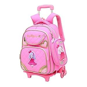 ABBD borse da scuola per ragazze Trolley per ragazzi, Zaini di grande capacità Studente Impermeabile anno scolastico 2-6… 8 spesavip