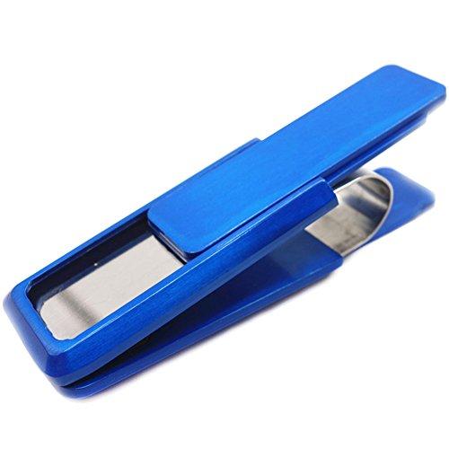 Simple Artmi Organizer Stainless Card Steel Clip Money Holder Fashion Blue Money Blue 0q0pUwr