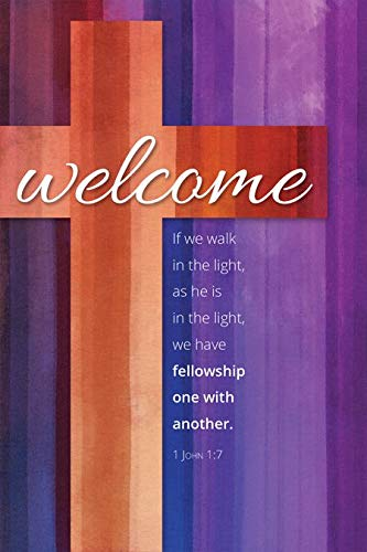 "Welcome Folder -""Welcome"" - KJV Scripture - (Pack of 12)"