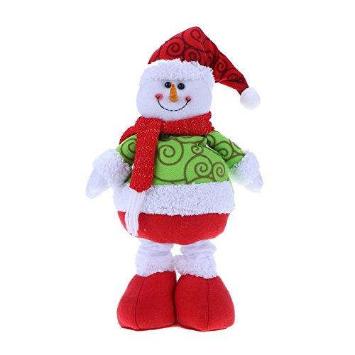 GreenSun TM Cute Christmas Snowman Santa Dolls Festive Hanging Decorate Navidad Figurine Christmas tree Ornaments Kids Christmas Gifts