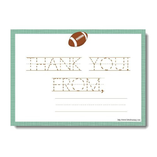 Football Thank You Notes for Kids, Football Thank You Cards ([12] 7