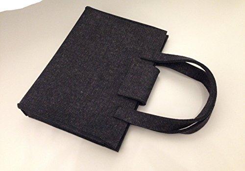 Filz Tasche Shopper Einkaufstasche Farbe anthrazit 100% Merino Filz