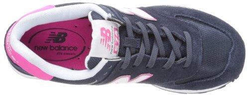 Ny Balanse Kvinners Wl574 Kjerne Pluss Samling Sneaker Blå / Rosa