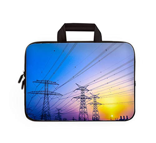 Double Zipper Laptop Bag,Electrical Pylons Near Jabel for sale  Delivered anywhere in USA
