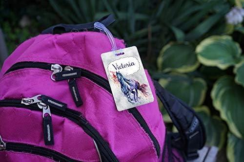 Luggage Tag Childrens Bag Tag Name Tag for Backpacks Kids Backpack Tag School Bag Tag Diaper Bag Tag Animal Luggage Tag School Backpack Tag