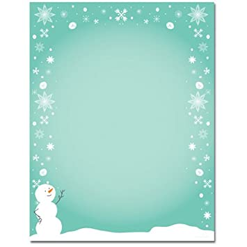 Amazon.com : Cute Snowman and Snowflake Border Christmas Holiday ...