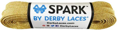 Derby Laces Gold Spark Shoelace for Shoes, Skates, Boots, Roller Derby, Hockey and Ice Skates (45 Inch / 114 cm)