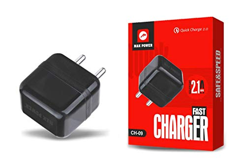MAK POWER Mobile Chargers   Android Phones 2.1 A Micro USB Wall Charger Fast Charging  Black