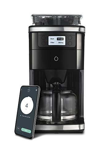 Smarter SMCOF01-US SMCOF01-US 12 Cup WiFi Coffee Maker, Black/Silver