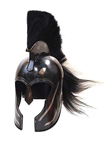 Trojan Helmet - Achilles - Steel with Black Crest ()