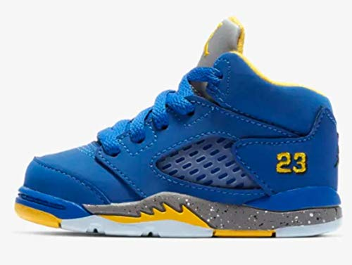 Jordan Retro 5 Laney JSP Toddlers Shoes Varsity Royal/Varsity Maize ci3289-400 (10 M US) (Jordans Shoes For Toddlers)