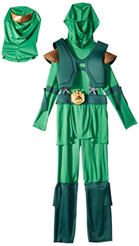 (Disguise Shadow Ninja Green Master Ninja Deluxe Boys Costume, One Color,)