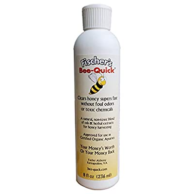 Fischer's Bee Quick for Removing Honey Bees from Honey Boxes in a Safe and Organic Way (8 oz Bottle) from Fischer's Bee Quick
