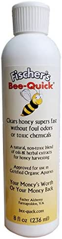 Fischer's Bee Quick for Removing Honey Bees from Honey Boxes in a Safe and Organic Way (8 oz Bottle)
