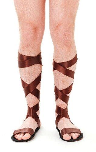 Bristol Novelty Brown Roman Sandals Costume Accessories Men's One Size ()