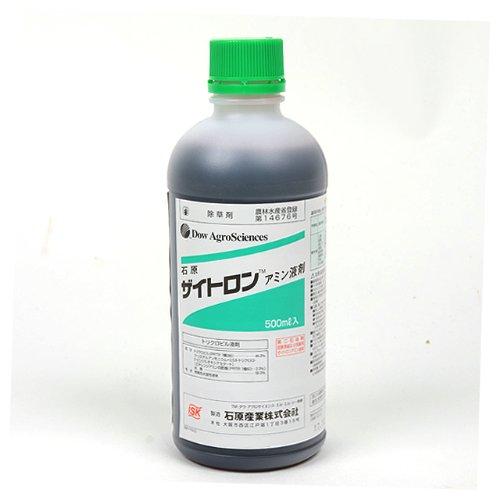 芝生用除草剤 ザイトロンアミン液剤 500ml入り B003BTG4WK
