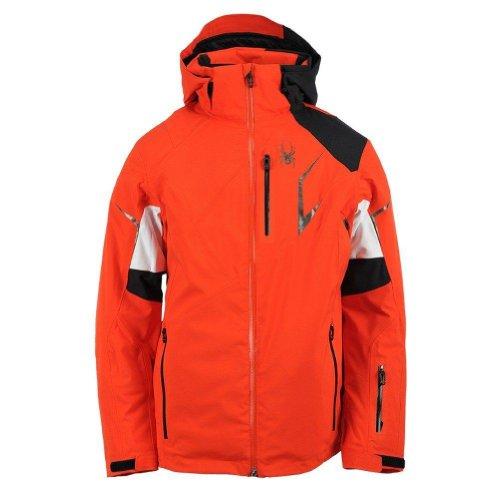 - Spyder Men's Leader Jacket, Volcano/Black/White, Small
