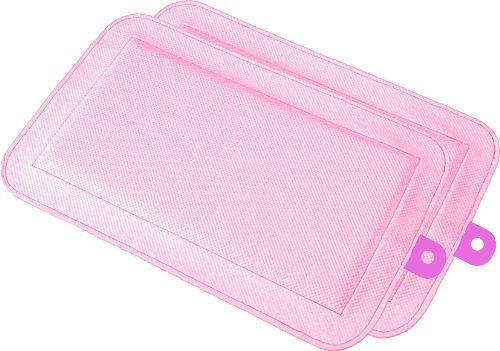 DryFur Pet Carrier Insert Pads Size Petite 13.5in x 8.5in Pink - 2 Pack