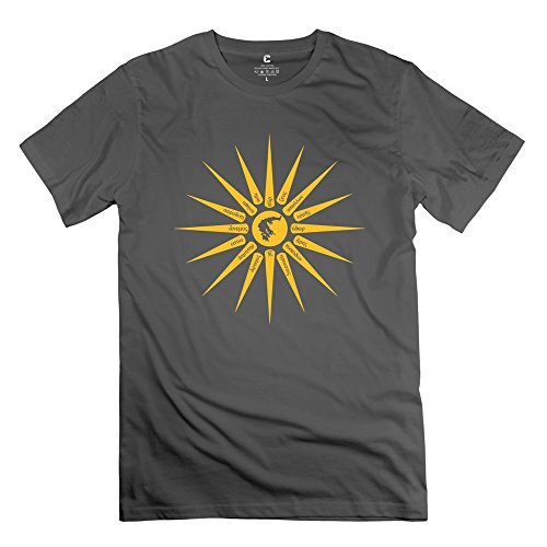 Customized Ilios Tshirts For Men 100% Cotton O-Neck DeepHeather