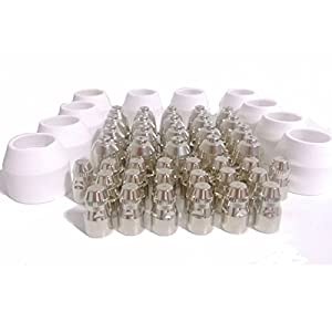 Warrior Free Shipping 50pcs P80 Consumable Tips Electrodes Shield Cups For Air Plasma Cutter Cutting Machine P-80 from Warrior Welding Supply
