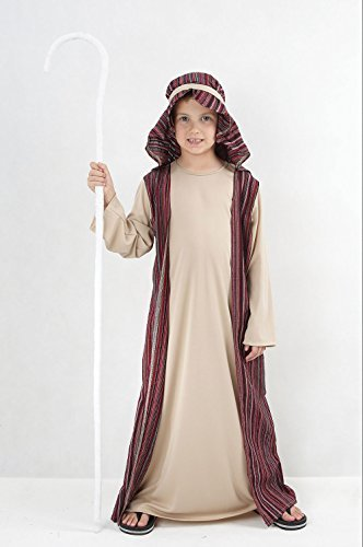 Boys Shepherd Costume for Nativity Christmas Joseph Fancy Dress Outfit Child (L) by Partypackage Ltd