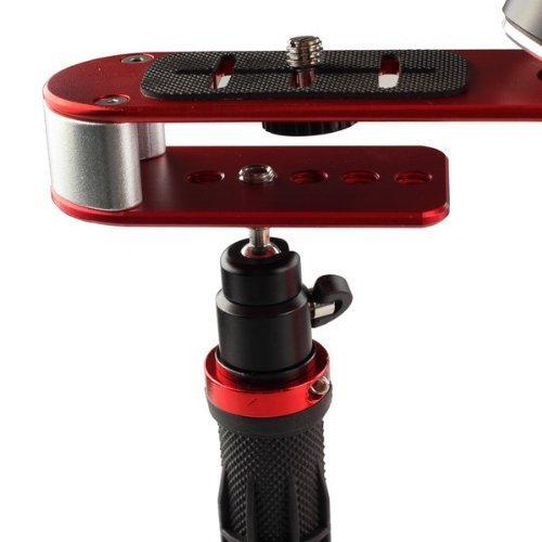 manico in gomma Pro Handheld Steadycam stabilizzatore video maniglia costante supporto per Canon Nikon Sony fotocamera Cam videocamera DV DSLR rosso e nero.