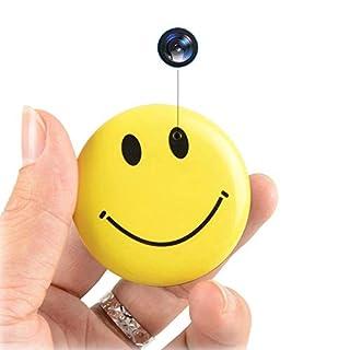 Mini Hidden Camera Smile Face Shirt Spy Camera Video Recorder Photo Taking Security Camera