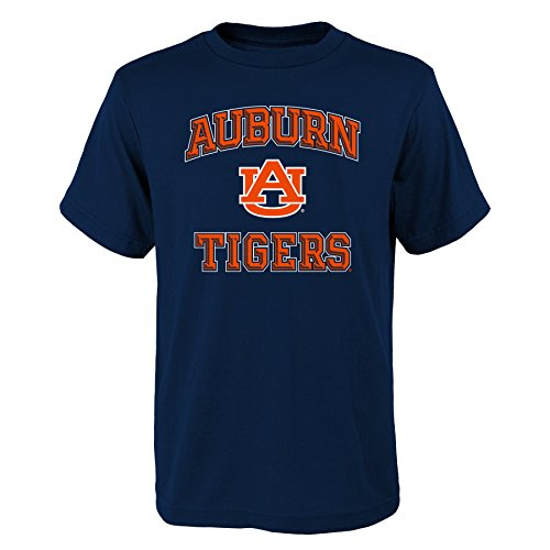 NCAA Auburn Tigers Youth Boys Game Time Basic Tee, Youth Boys Small(8), Dark Navy