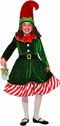 Forum Novelties Girls Santa's Lil Elf Child's Costume, Multi Color, Small -