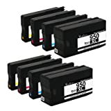Valuetoner Remanufactured Ink Cartridge Replacement For New Generation Hewlett Packard HP 950XL 951XL (2 Black, 2 Cyan, 2 Magenta, 2 Yellow) 8 Pack