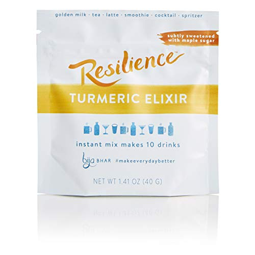 Bija Bhar Resilience Turmeric Elixir, Subtly Sweetened, 10 Servings, 1.41 Ounce Pouch