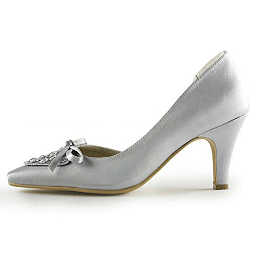 Minitoo Silver 7 Minitoo pour Heel femme femme 5cm pour Escarpins Silver Escarpins BSgBrwqAx