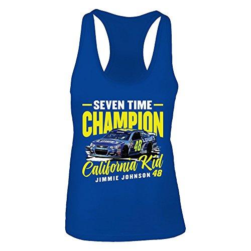 FanPrint Jimmie Johnson Tank Top - California Kid - Women's Tank Top/Royal/XL